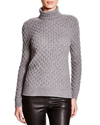 C By Bloomingdale's Cable Knit Turtleneck Sweater Grey