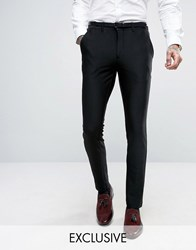 Only And Sons Super Skinny Suit Trousers In Jersey Black