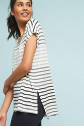 Anthropologie Ombre Striped Top Grey Motif