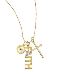 Faith 14K Gold Charm Necklace With Diamonds Kacey K