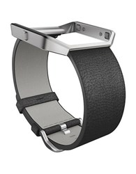 Fitbit Blaze Accessory Leather Band And Frame Black