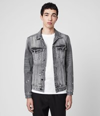 Allsaints Bilton Denim Jacket Washed Black
