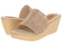 Sbicca Fiorella Natural Women's Wedge Shoes Beige