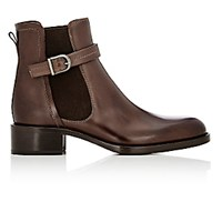 Sartore Women's Buckle Strap Chelsea Boots Brown
