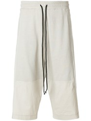 Lost And Found Rooms Panelled Shorts Cotton Nude Neutrals