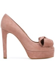 Casadei Bow Detail Platform Pumps Pink And Purple