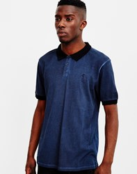 Religion Oil Wash Polo Blue