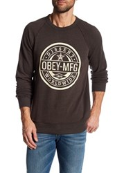 Obey Worldwide Dissent Long Sleeve Pullover Brown
