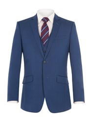Aston And Gunn Men's Lostock Blue Suit Jacket Blue