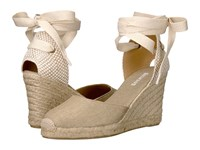 Soludos Tall Wedge Gold Linen Women's Wedge Shoes
