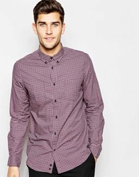 Sisley Check Shirt With Button Down Collar Red
