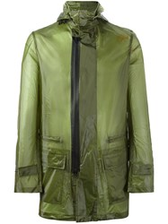 Y 3 Hooded Raincoat Green