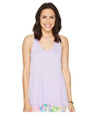 Lilly Pulitzer Luxletic Anisa Tank Top Lilac Verbena Women's Sleeveless Purple