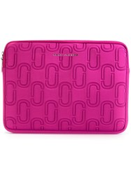 Marc Jacobs Double J Neoprene 13 Computer Case Pink Purple