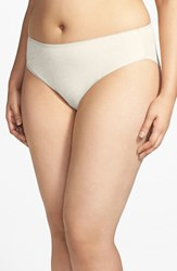 Plus Size Women's Nordstrom High Cut Cotton Blend Briefs Beige Sand Heather
