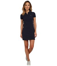 Lacoste Short Sleeve Classic Pique Polo Dress Navy Blue Women's Dress