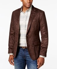 Tasso Elba Men's Microsuede Sport Coat Only At Macy's Brown Combo