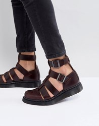 Dr. Martens Dr Geraldo Ankle Strap Sandals In Red
