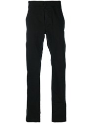 Lost And Found Rooms Slim Fit Trousers Men Cotton Spandex Elastane L Black