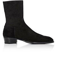 Barbanera Men's Side Zip Boots Black Blue Black Blue