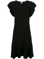 Emporio Armani Flared Dress Black