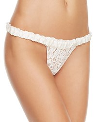 For Love And Lemons Sage Lace Thong Skpa1160l Ivory