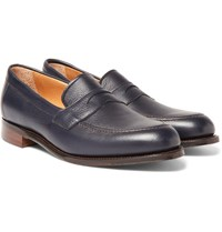 Cheaney Hadley Full Grain Leather Penny Loafers Midnight Blue