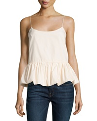 F.T.B By Fade To Blue Woven Bubble Tank Blush