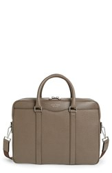 Men's Boss 'Signature' Leather Briefcase Beige Dark Beige