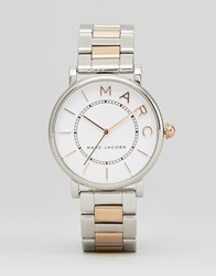 Marc Jacobs Classic Mixed Metal Watch Silver Gold