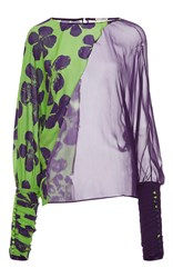Ungaro Emanuel Double Fabric Long Sleeve Blouse Print