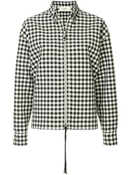 Ports 1961 Gingham Print Zipped Shirt Black