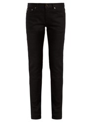 Saint Laurent Mid Rise Denim Skinny Jeans Black