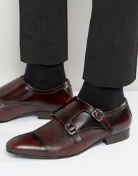 Kg By Kurt Geiger Cozier Leather Monk Shoes Red