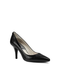 Michael Kors Flex Leather Mid Heel Pump Black