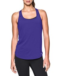 Under Armour Fly By 2.0 Cutout Racerback Tank Top Deep Orchid