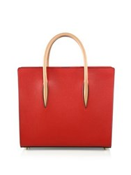Christian Louboutin Paloma Medium Pebbled Leather Tote Red