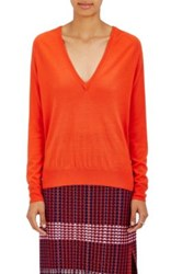 Proenza Schouler Women's Wool V Neck Sweater Orange