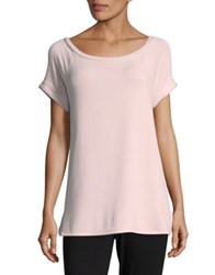 Lord And Taylor Violet Fuzzy Tee Dark Heather