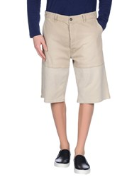 Marni Denim Denim Bermudas Men Beige