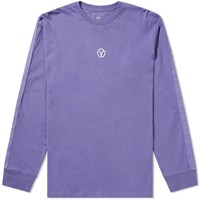 Vans Long Sleeve Circle V Tee Purple