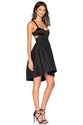Halston Halter Cut Out Dress Black