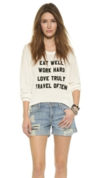 Wildfox Couture Mantra Pullover Vintage Lace
