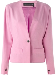 Jean Louis Scherrer Vintage Cropped Jacket Pink And Purple