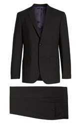 Ted Baker London Jay Trim Fit Solid Wool Suit Black