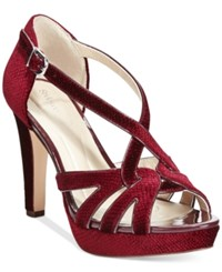 Styleandco. Style And Co. Selinaa Evening Pumps Only At Macy's Women's Shoes Wine Velvet