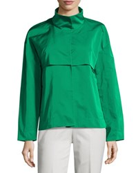 Lafayette 148 New York Tiegs Snap Front Topper Jacket Green