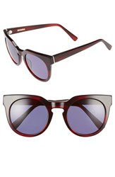 Derek Lam Women's 'Stella' 51Mm Round Sunglasses Red Feather
