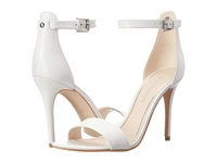 Enzo Angiolini Manna White White Leather High Heels Taupe