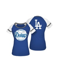 5Th And Ocean Women's Los Angeles Dodgers Athletic Baseball T Shirt Royalblue